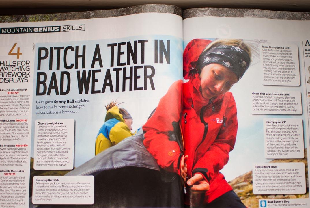 Trail Magazine Sunny Bull Winter Skills Tent Pitching