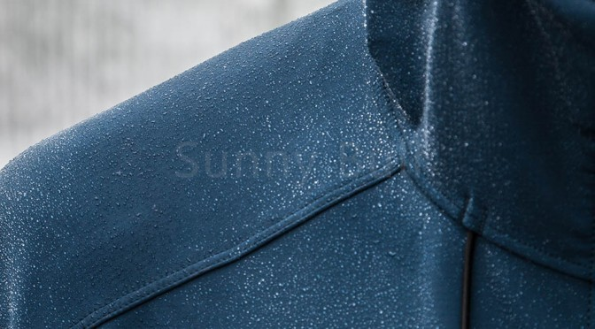 A DWR is a hydrophobic chemical that repels water. It means the fabric does not get saturated with rain quickly which would affect breathability and performance of the layer.