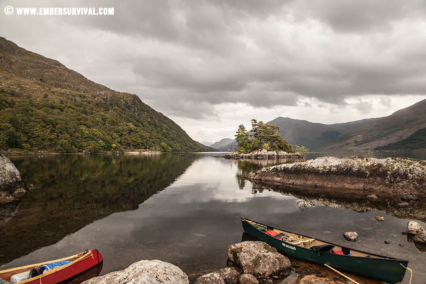 Nearing the end of Loch Shiel , full days worth of paddling.