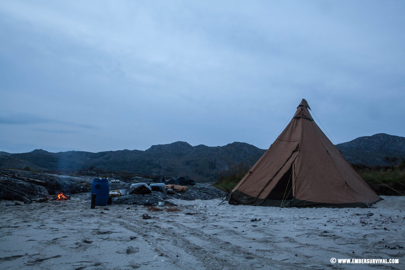 Safir 9 CP pitched on an island in Scotland. Home away from home.