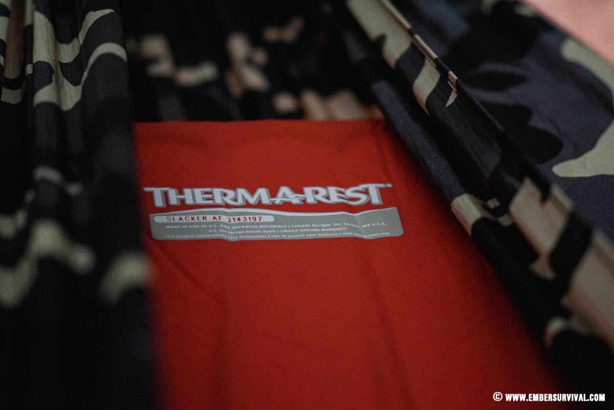 Thermarest Slacker Hammock Pad Review Ember Survival