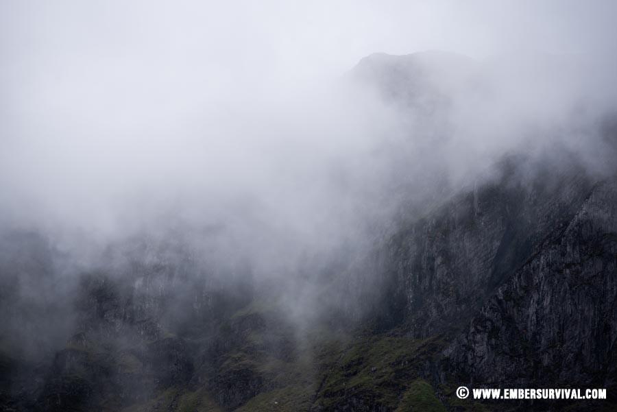 Glyderau in the mist