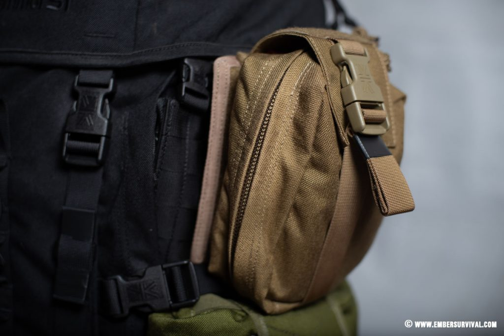 IA Medical Pouch attached via MOLLE side panel to Sabre 45
